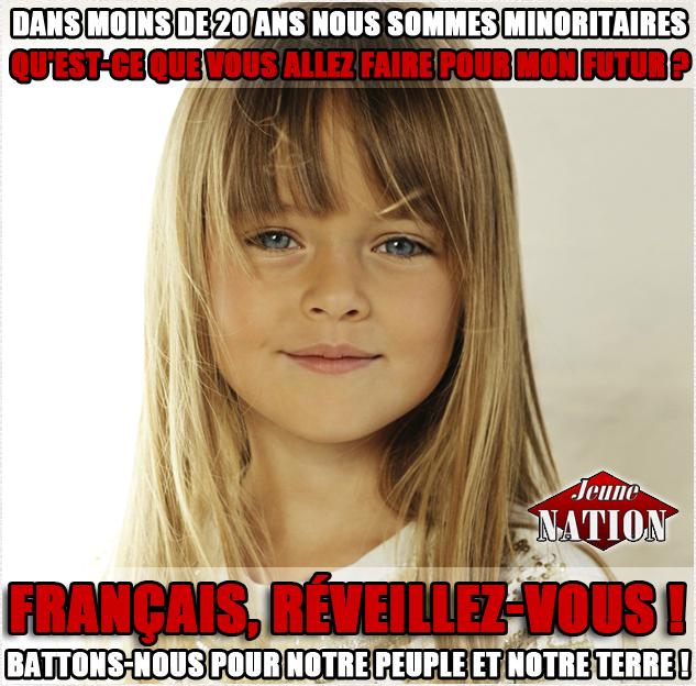 Dans moins de 20 ans nous sommes minoritaires visu jn fille blanche