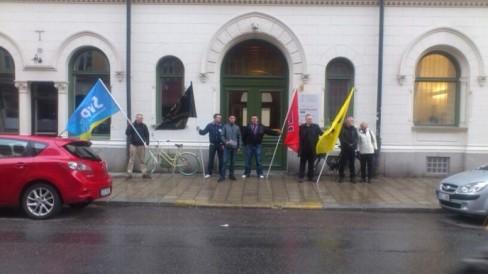 Manifestation du SvP aux martyrs de l'Aube dorée.