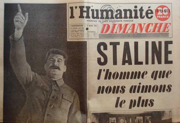 Quelques temps plus tard, L'Humanité rendait hommage aux plus grand criminel de l'histoire de l'humanité.