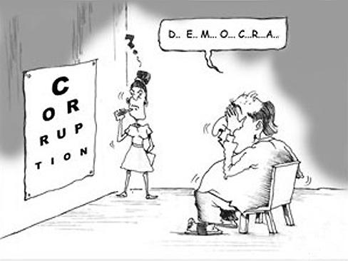 corruption- démocratie