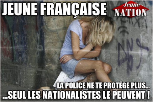 jeune_française-police_nationalistes-jeune_nation- viol agression femme police