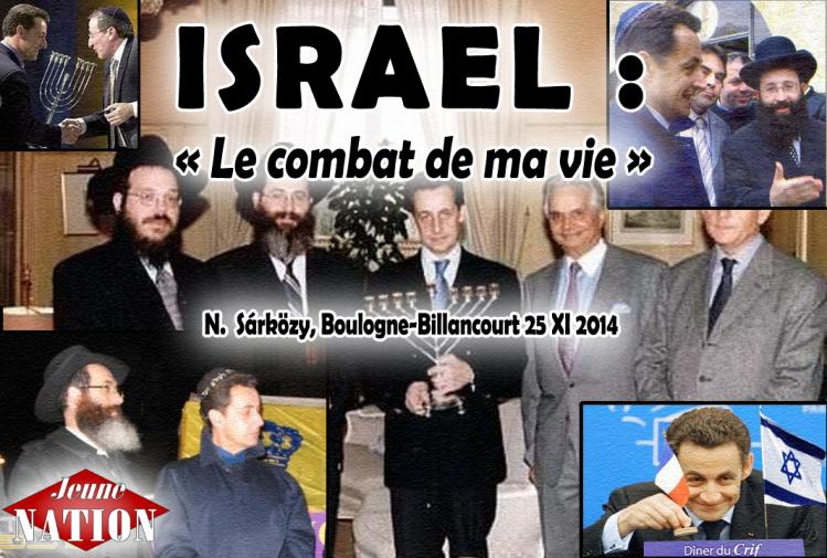 """Nicolas, Jean, Pierre... Le tropisme juif est très répandu dans la famille Sárközy : """"Israël est le combat de ma vie"""" avait déclaré le père."""