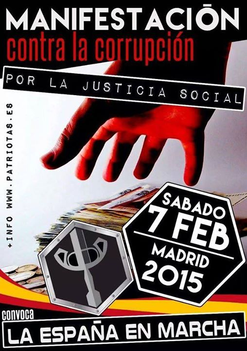Manifestation Madrid Corruption