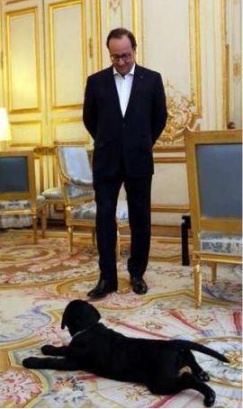 Philae pose devant son politicien adopté.