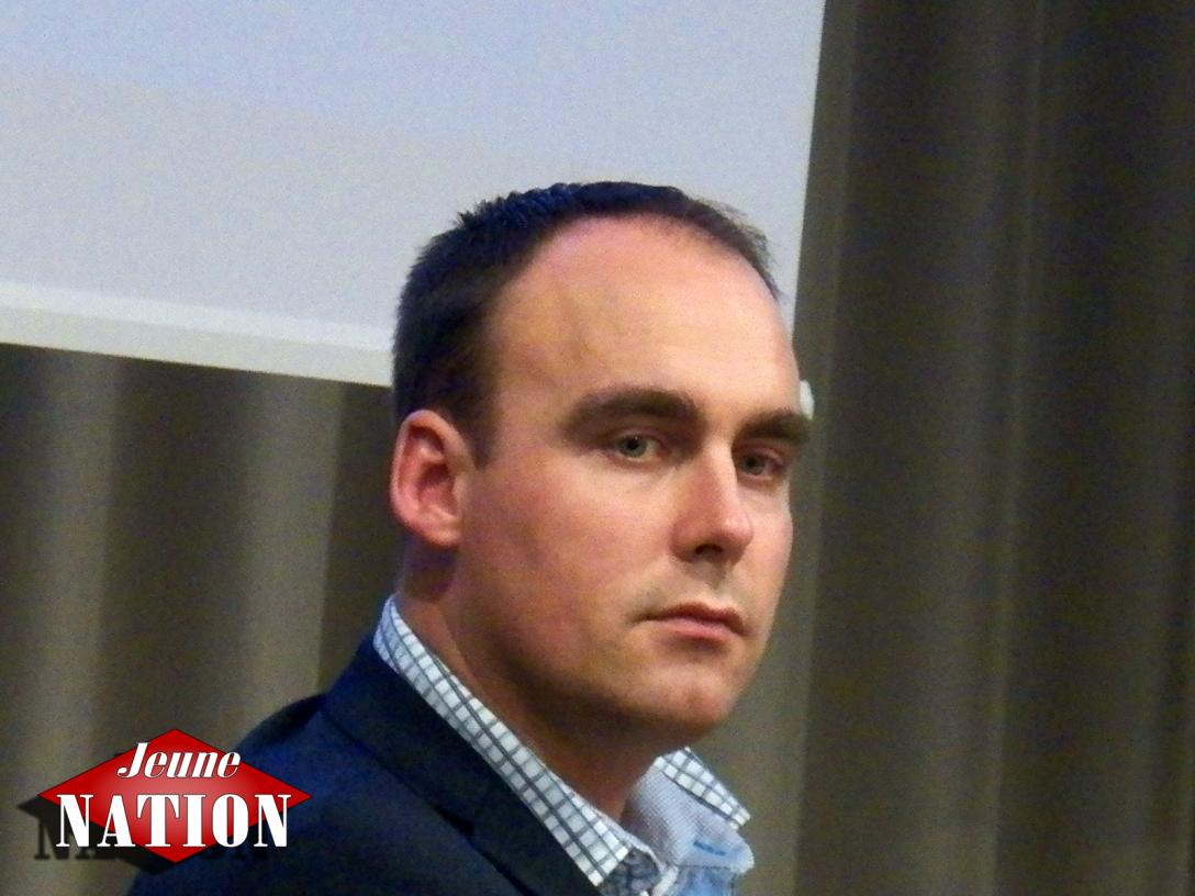 Le chef du Svenskarnas Party Stefan Jacobsson.