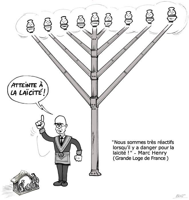 bluj-laicité menorah imperialisme juif franca maçon