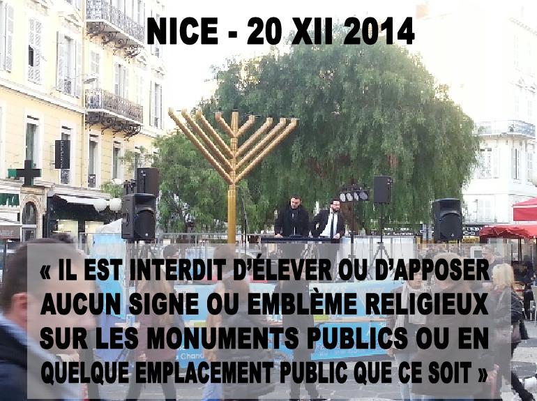 Ménorah géante au cœur de Nice, mini-crèche censurée à Nancy et « Eurochanukah »