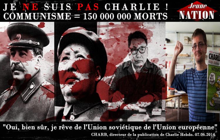 Charb se réclamait de l'idéologie la plus criminelle de l'histoire.