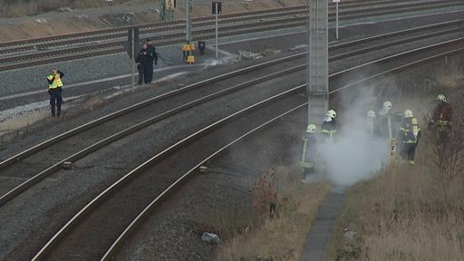 Un local technique destiné à aiguiller les trains incendié volontairement.