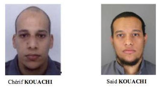 Cherif Kouachi et Saïd Kouachi, les deux islamistes présumés tueurs de deux policiers et d'un employé de la SODEXO.