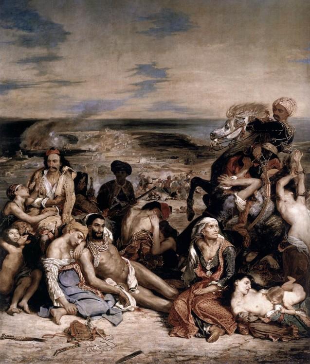 Eugène Delacroix : Scène du massacre de Scio.