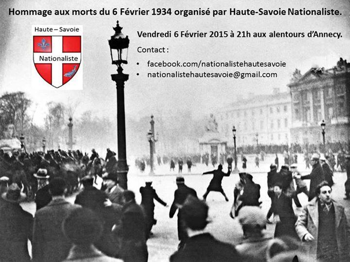 haute savoir nationaliste 6 février