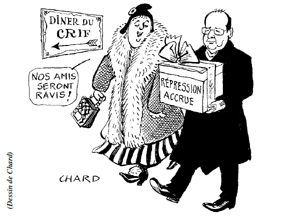 hollande republique crif cadeau repression