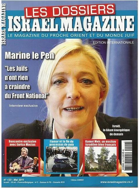 marine le pen israel magazine bouclier juifs