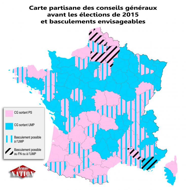 Carte partisane des conseils généraux