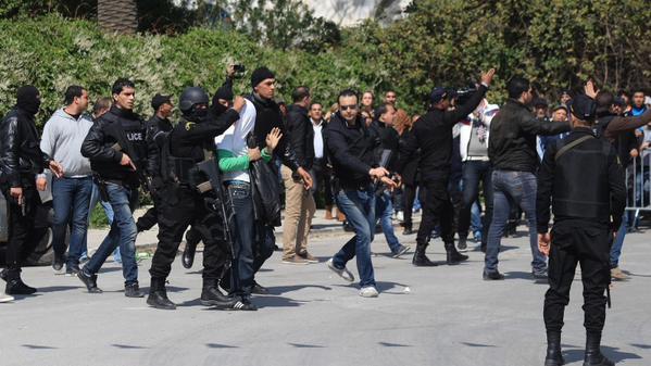 L'un des trois terroristes a été arrêté.