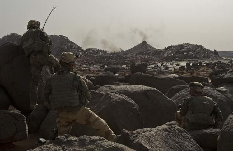 Militaires français durant l'opération barkhane