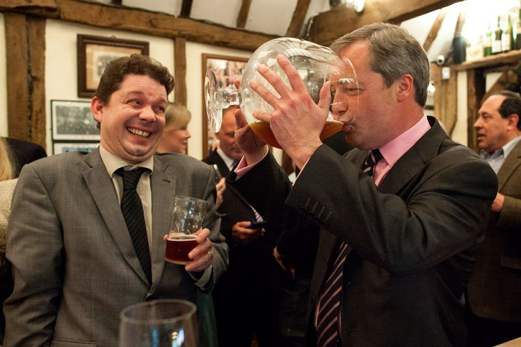 Nigel Farage en campagne électorale pour l'UKIP