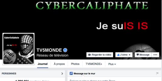 Je SuIS IS - état islamique piratage TV5 Monde