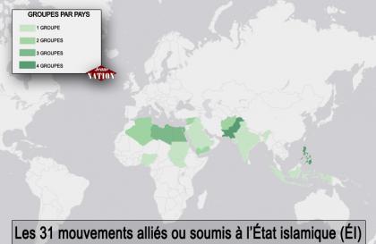 L'ÉI soutenu par 31 groupes terroristes à travers le monde