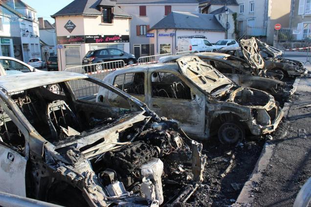 voiture brûlée Château-du-Loir