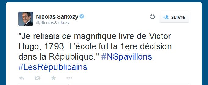 1793 de Victor Hugo par Sarkozy