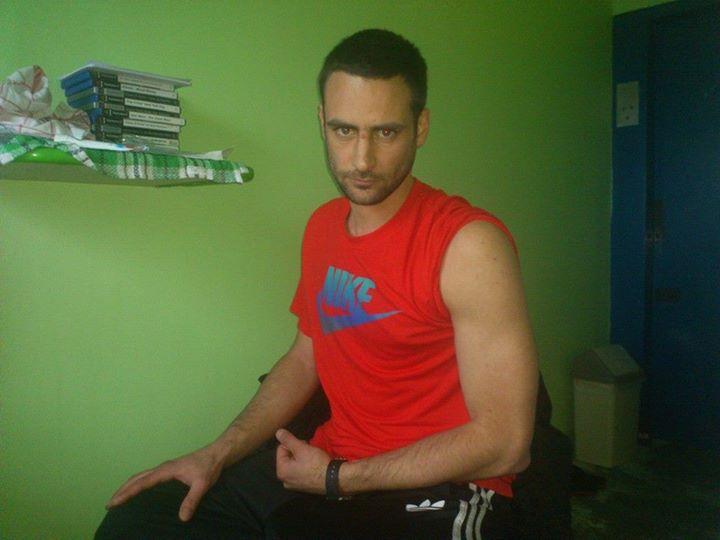 """Damien Camelio (GADI) en prison, dénonçant la """"répression"""" de l'État fasciste."""