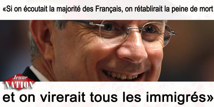 bartolone - Si on écoutait la majorité des Français, on rétablirait la peine de mort et on virerait tous les immigrés-