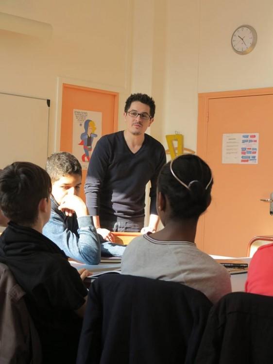 Karim Friha en classe