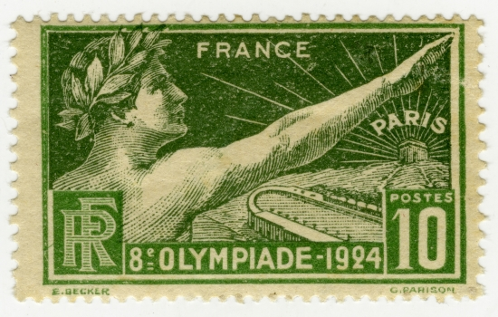 Timbre en l'honneur de la 8e olympiade moderne organisée à Paris en 1924