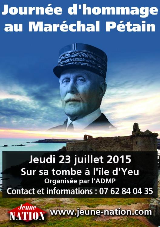 VisuMaréchal Pétain ile d'Yeu 2015 agenda
