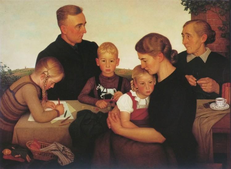 Adolf Wissel : La famille paysanne Kalenberger.