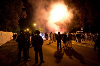 Heidenau: la police allemande attaque des nationalistes dénonçant l'invasion