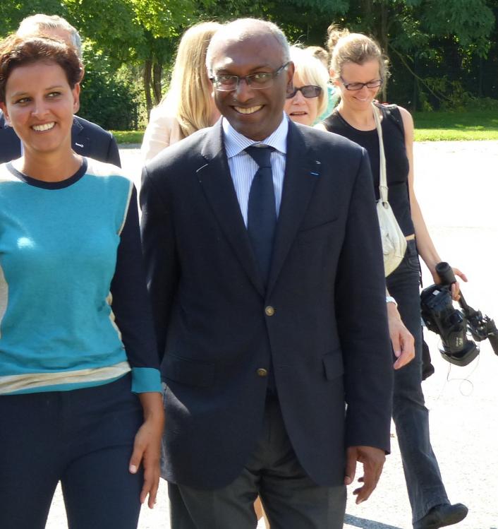 L'Africain Kléber Arhoul avec la Marocaine Najat Belkacem