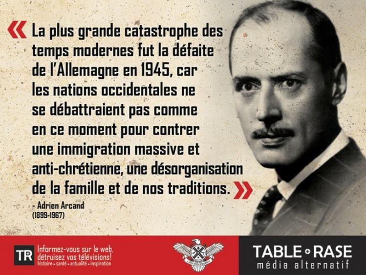 Table rase (TR) nationalisme Québec Adrien Arcand
