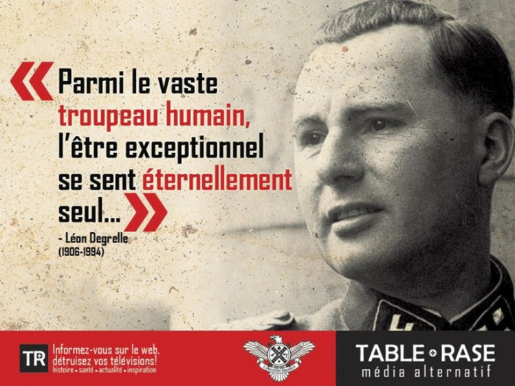 Table rase (TR) nationalisme Québec Léon Degrelle