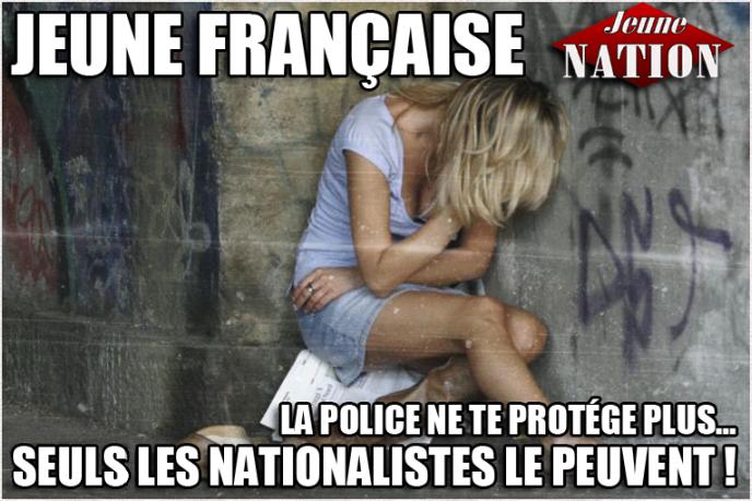 viol jeune française-police_nationalistes-jeune_nation-