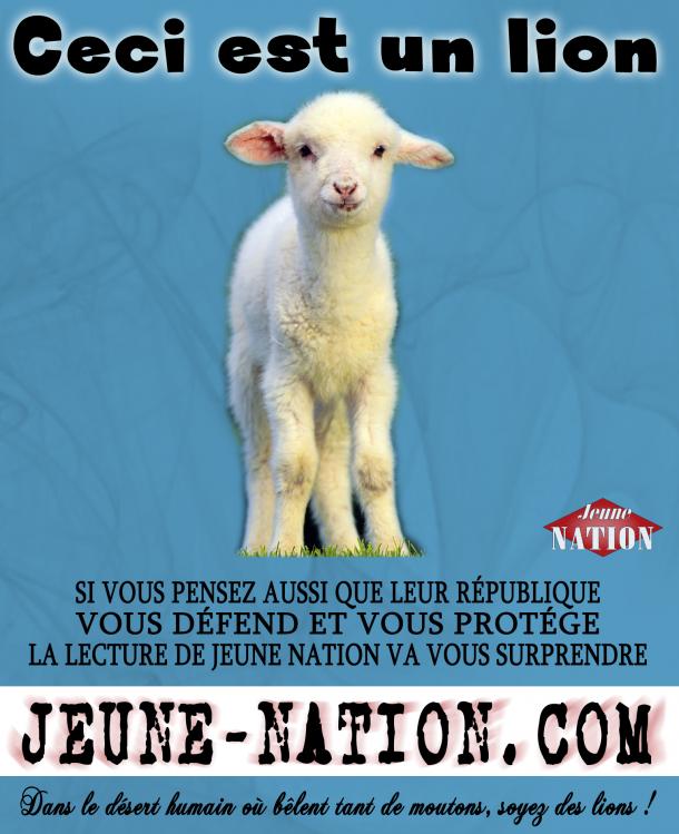 lion-mouton-degrelle-jn ceci est un-bleu-