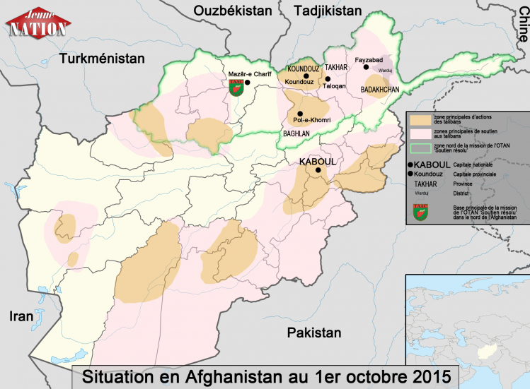 Situation en Afghanistan au 1er octobre 2015