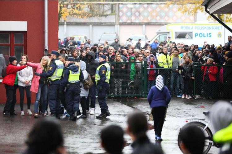 Trollhattan, ville envahie de Suède