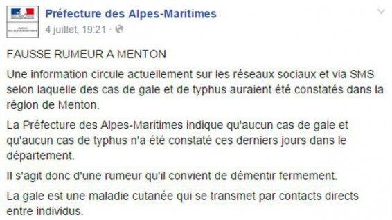 préfecture alpes maritimes mensonge facebook_pref_gale_1