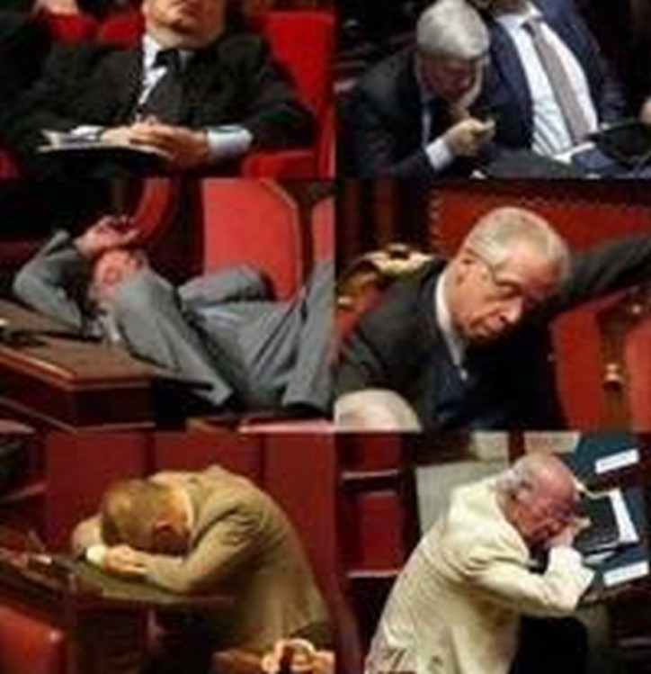 sénateurs endormis