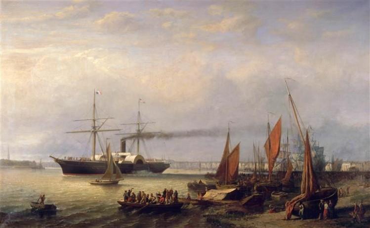 Richard Faxon, Paquebot en partance du port de Bordeaux