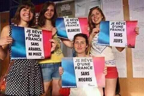 Toute l'histoire sur la photo raciste sur fond du drapeau français