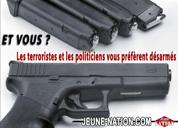 a-legitime defense arme droit 8 LONG terroristes et politiciens