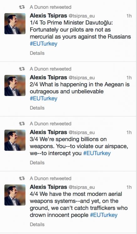 tsipras menace la Turquie