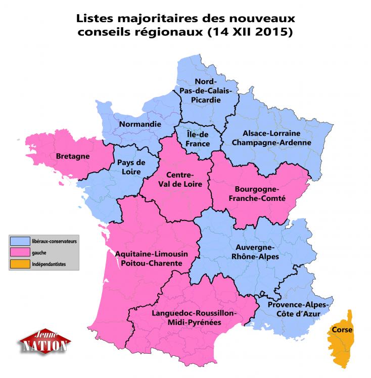 listes arrivées en tête élrég 2015 par région