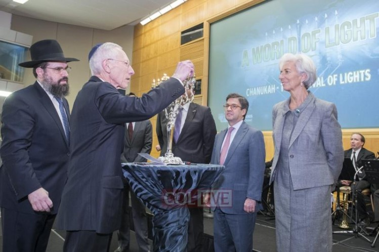 christine lagarde -- menorah