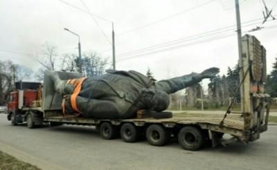 Statue_Lenine_Zaporija_Ukraine