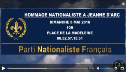 Hommage nationaliste à Jeanne d'Arc – 8 mai 2016